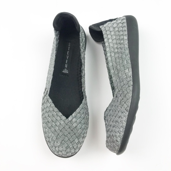 e872d4fcf4397 Steven by Steve Madden Shoes   Sliver Criss Yoga Flats   Poshmark